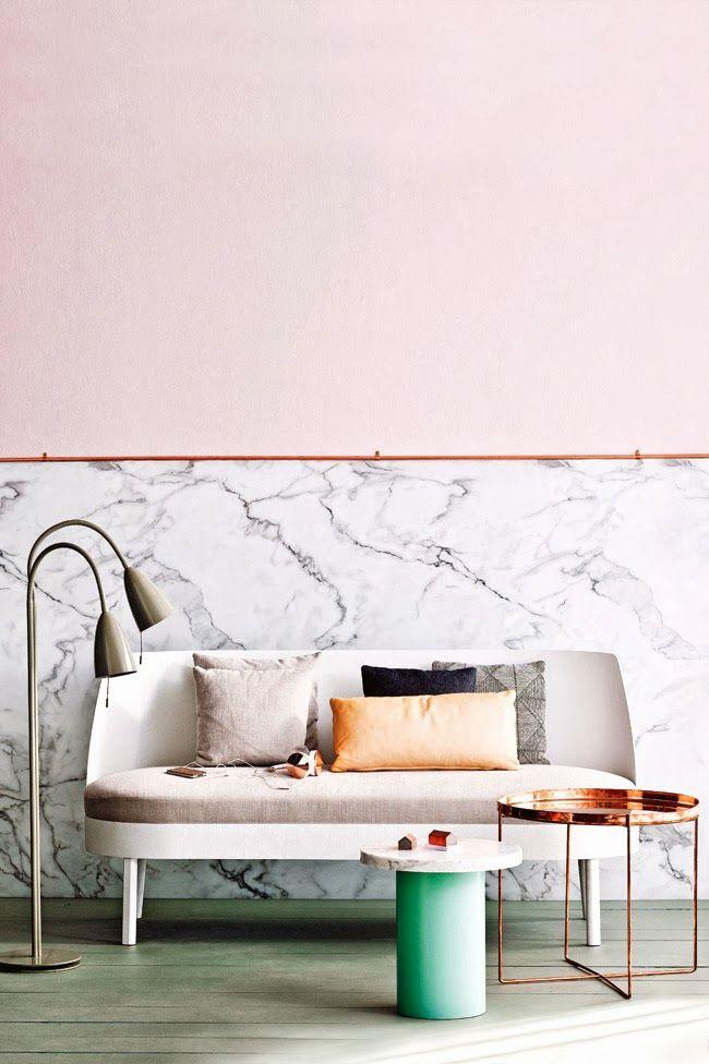 Habibi copper coffee table - e15